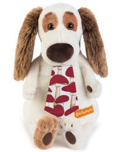 Плюшена играчка Budi Basa - Кученце Бартоломей, с вратовръзка, 33 cm - 1