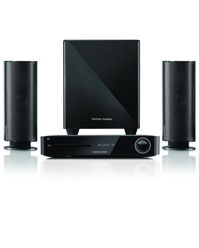 Система за домашно кино harman/kardon BDS 485S - 2.1, черна и Blu-Ray система - 2