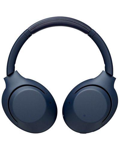 Безжични слушалки с микрофон Sony - WH-XB900N, сини - 3