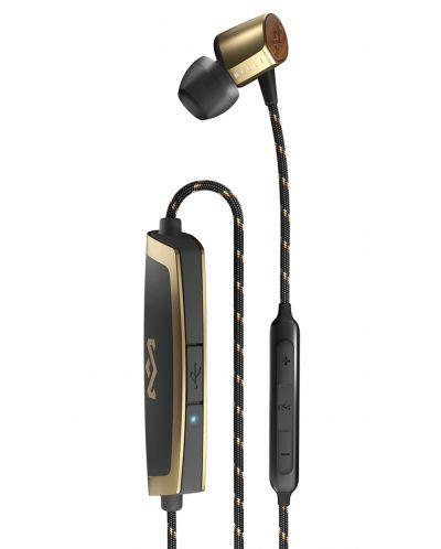 Безжични слушалки с микрофон House of Marley - Uplift 2, brass - 4
