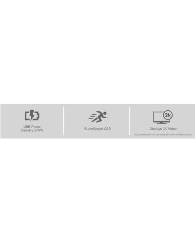 "BenQ PD2710QC, 27"" Wide IPS Ant-Glare, 5ms GTG, 1000:1, 20M:1 DCR, 350 cd/m2, 2560x1440 QHD, 100% sRGB, HDMI, DP, USB-C Docking, Height Adjustment, Pivot, Black&Silver - 12"