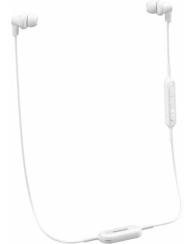 Слушалки с микрофон Panasonic RP-NJ300BE-W - бели - 1