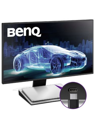 "BenQ PD2710QC, 27"" Wide IPS Ant-Glare, 5ms GTG, 1000:1, 20M:1 DCR, 350 cd/m2, 2560x1440 QHD, 100% sRGB, HDMI, DP, USB-C Docking, Height Adjustment, Pivot, Black&Silver - 21"