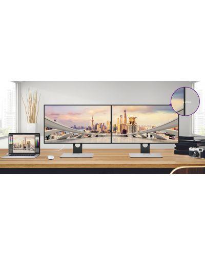 "BenQ PD2710QC, 27"" Wide IPS Ant-Glare, 5ms GTG, 1000:1, 20M:1 DCR, 350 cd/m2, 2560x1440 QHD, 100% sRGB, HDMI, DP, USB-C Docking, Height Adjustment, Pivot, Black&Silver - 15"
