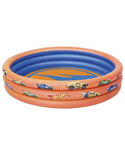 Надуваем басейн Bestway - Hot Wheels - 1