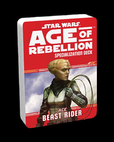 Допълнение за ролева игра Star Wars: Age of Rebellion - Beast Rider Specialization Deck - 1