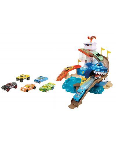 Комплект за игра Hot Wheels - Писта акула и колички с промяна на цвета - 4
