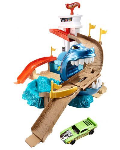 Комплект за игра Hot Wheels - Писта акула и колички с промяна на цвета - 5