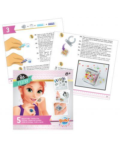 Творчески комплект Buki Be Teens - Направи си сам пръстени с мехурчета - 4