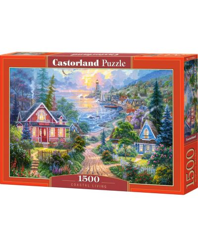 Пъзел Castorland от 1500 части - Крайбрежен живот - 1