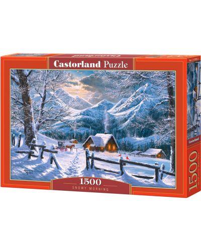 Пъзел Castorland от 1500 части - Снежно утро - 1