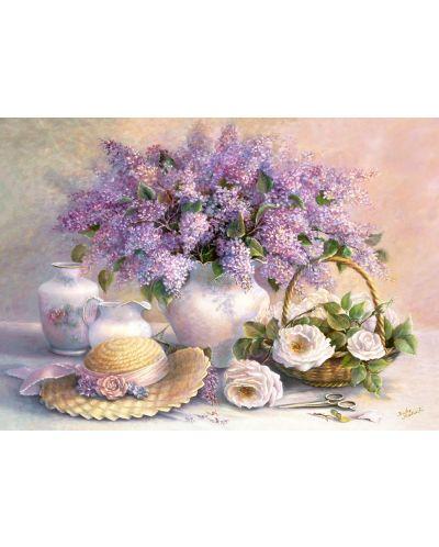 Пъзел Castorland от 1000 части - Деня на цветята, Триша Хардуик - 2