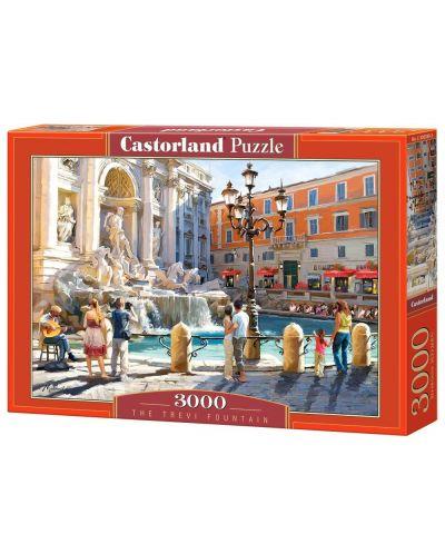 Пъзел Castorland от 3000 части - Фонтан ди Треви - 1