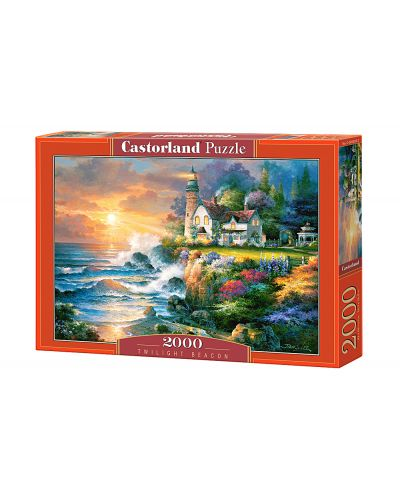 Пъзел Castorland от 2000 части - Къща на брега - 1