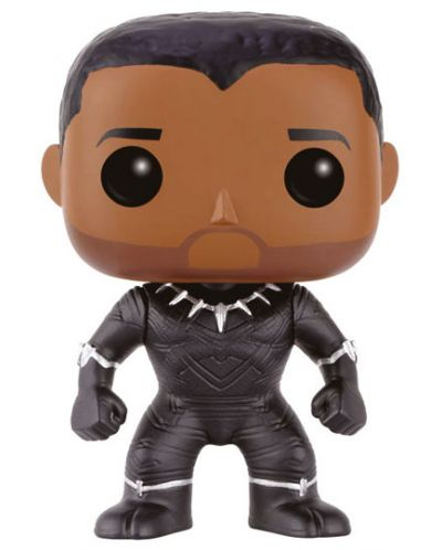 Фигура Funko Pop! Marvel: Captain America - Civil War - Black Panther (Unmasked), #138 - 1