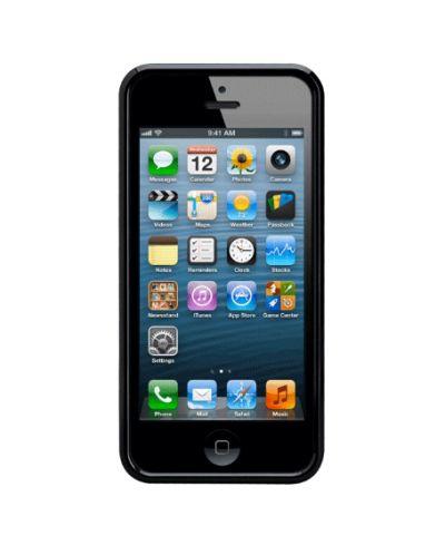 CaseMate Brushed Aluminium за iPhone 5 -  черен - 2