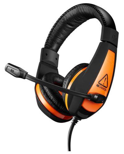 Гейминг слушалки CANYON CND-SGHS1 - 3.5мм жак, черни - 1