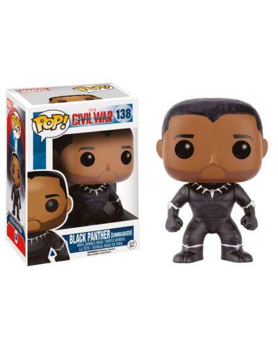 Фигура Funko Pop! Marvel: Captain America - Civil War - Black Panther (Unmasked), #138 - 2