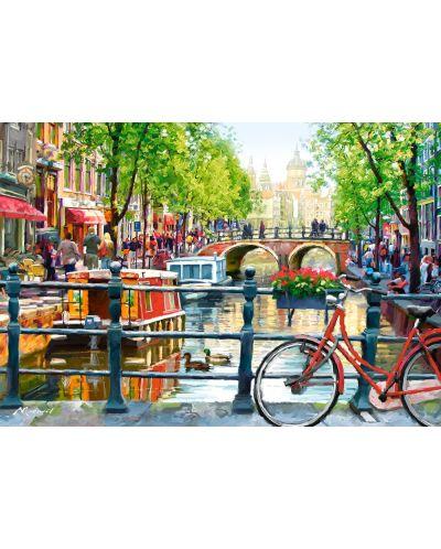 Пъзел Castorland от 1000 части - Пейзаж в Амстердам - 2