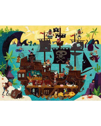 Детски пъзел Crocodile Creek от 50 части - Пиратски кораб - 2