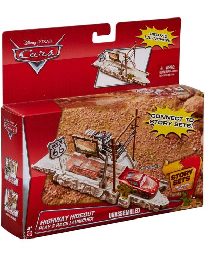 Игрален комплект Mattel Cars Story Sets - Highway Hideout, Deluxe - 3