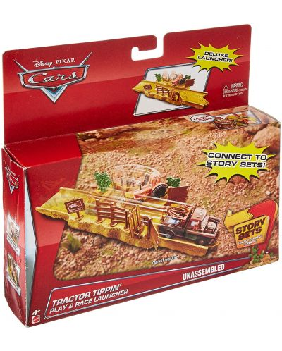 Игрален комплект Mattel Cars Story Sets - Tractor Tippin, Deluxe - 4
