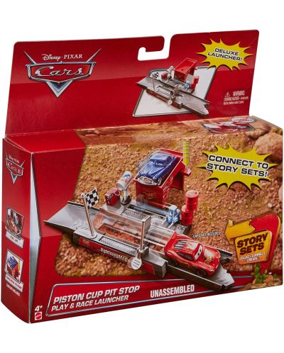 Игрален комплект Mattel Cars Story Sets - Piston Cup, Deluxe - 3
