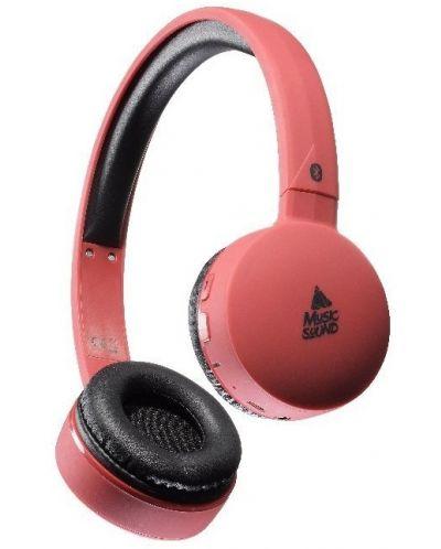 Безжични слушалки Cellularline Music Sound - червени - 1