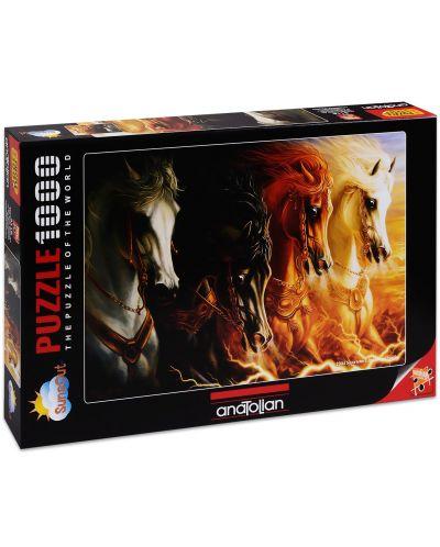 Пъзел Anatolian от 1000 части - Четирите коня на Апокалипсиса, Шарлен Линдског-Осорио - 1