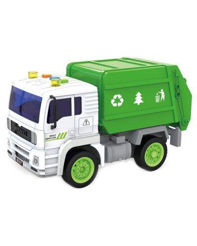Детска играчка City Service - Боклукчийски камион, със звук и светлини, асортимент - 2
