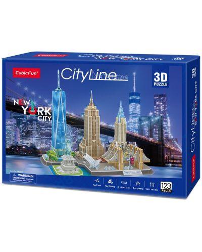 3D Пъзел Cubic Fun от 123 части - City Line New York City - 2