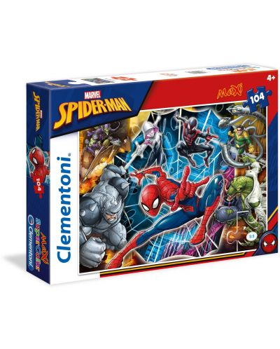 Пъзел Clementoni от 104 макси части - Спайдърмен - 1