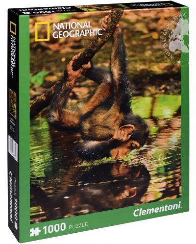 Пъзел Clementoni от 1000 части - Бебе шимпанзе - 1