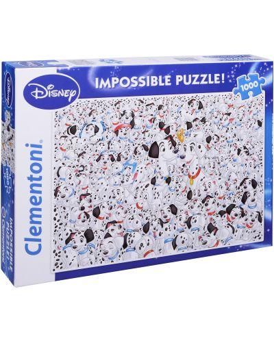Пъзел Clementoni от 1000 части - 101 далматинци - 1