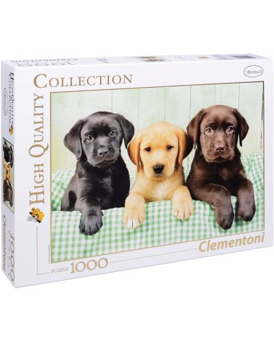 Пъзел Clementoni от 1000 части - Три лабрадорчета - 1