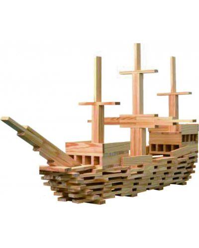 Строител от дървени блокчета Classic World – 250 части - 2