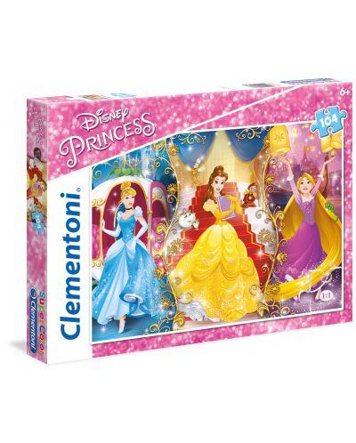 Пъзел Clementoni от 104 части - Принцеси - 1