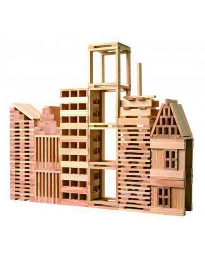 Строител от дървени блокчета Classic World – 250 части - 1