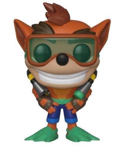 Фигура Funko Pop! Games: Crash Bandicoot - Crash With Scuba Gear , #421 - 1