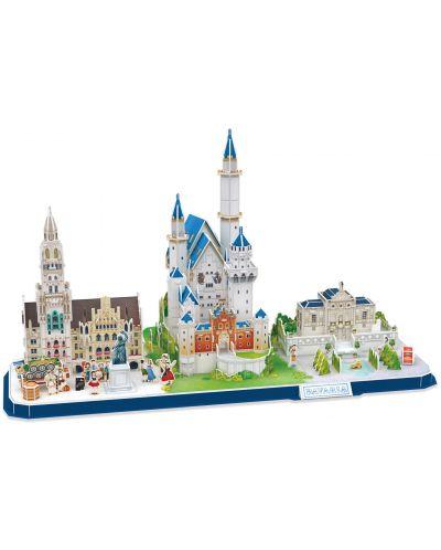 3D Пъзел Cubic Fun от 178 части - City Line Bavaria - 1