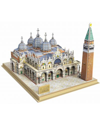 3D Пъзел Cubic Fun от 107 части - Venice St Mark's Square - 1