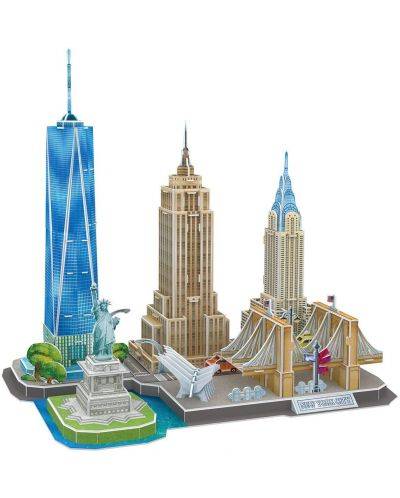 3D Пъзел Cubic Fun от 123 части - City Line New York City - 1