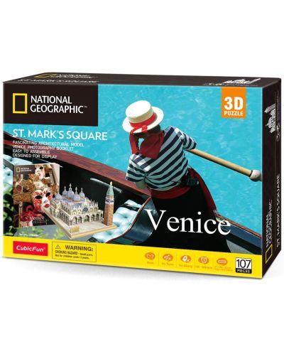 3D Пъзел Cubic Fun от 107 части - Venice St Mark's Square - 2