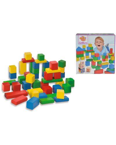 Цветни дървени блокчета Eichhorn - 2