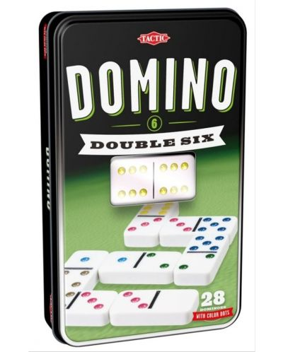 Класическа игра Tactic - Домино 6, в метална кутия - 1