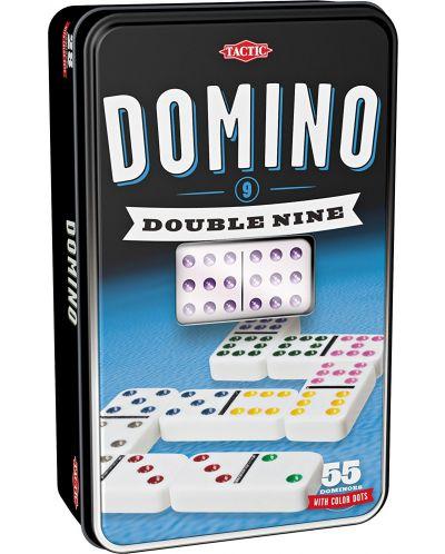 Класическа игра Tactic - Домино 9, в метална кутия - 1