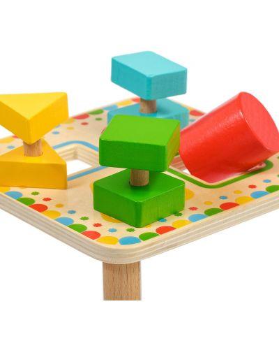 Дървена играчка Lucy&Leo - Сортер за форми - 4