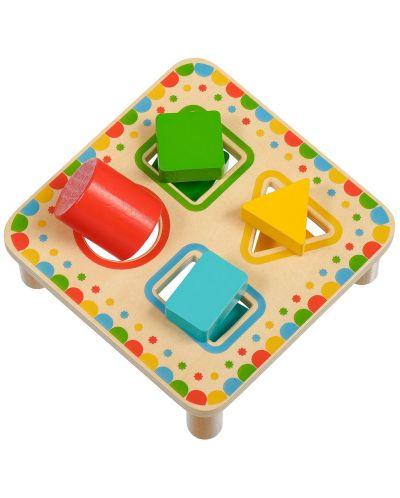 Дървена играчка Lucy&Leo - Сортер за форми - 3