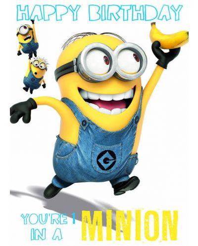 Поздравителна картичка Danilo - Despicable Me: Minion 1 In A Minion Birthday - 1