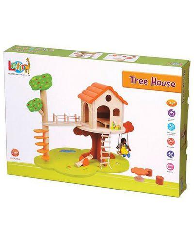 Игрален комплект Lelin - Къщичка на дърво - 2